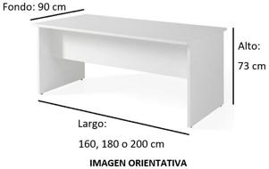Imagen medidas - Mesa de despacho Gatenon ofitipo