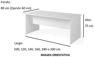 Imagen medidas - Mesa de despacho Nocor ofitipo-