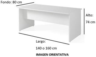 Imagen medidas - Mesa operativa Borta envio rapido ofitipo