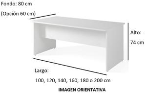 Imagen medidas - Mesa operativa Careco ofitipo