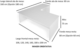 Imagen medidas - Mesa operativa Colpa en L ofitipo-