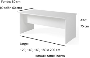 Imagen medidas - Mesa operativa Komat ofitipo