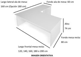 Imagen medidas - Mesa operativa Voltux en L ofitipo