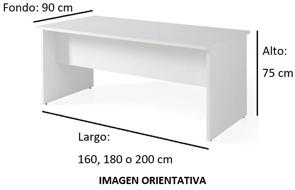 Imagen medidas 1 - Mesa de despacho Garud ofitipo