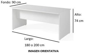 Imagen medidas 1 - Mesa de despacho Vestara ofitipo-